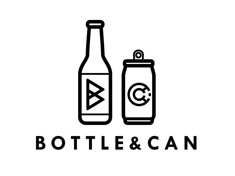 Bottle&Can logo design beer