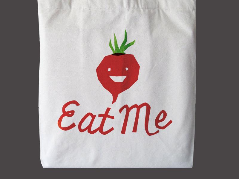 Eat Me organic market food tote