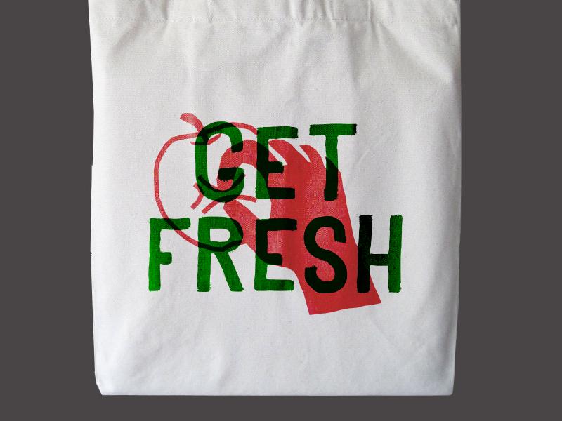 Get Fresh organic market food tote