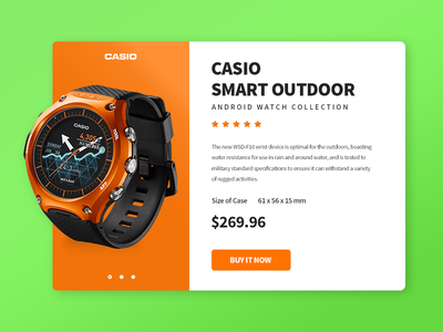 Casio Smart Outdoor product card vietnam design layout ui watch