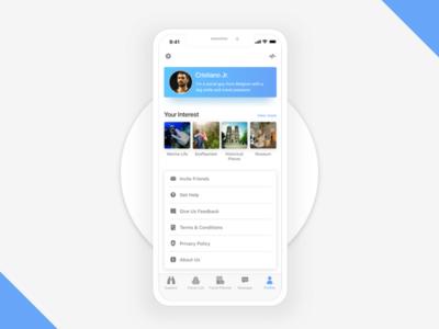 User Profile vietnam travel application mobile layout ux ui design profile user