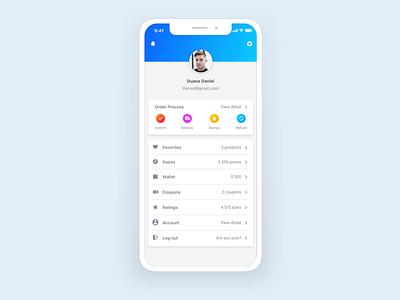 User Profile 3 profile user e-comerce vietnam ios flat application mobile layout ux design ui