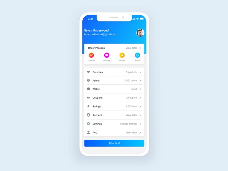User Profile 4 vietnam ios flat application mobile layout design ux ui user profile