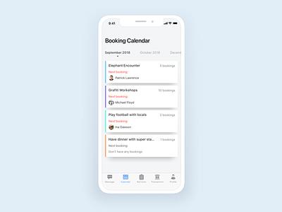 Booking Calendar ios vietnam travel flat uidesign ux ui mobile app booking calendar