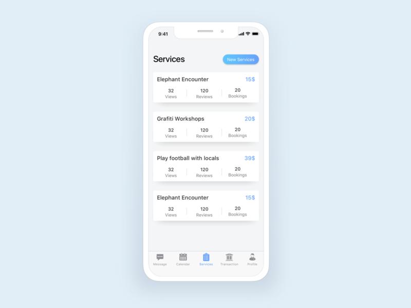 Services statistics travel flat app mobile ios layout design ui  ux ui list statistics services