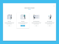 Create new category vietnam flat layout illustration design ux ui landing page website
