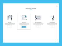 Create new category vietnam flat layout illustration design ux ui landing page website
