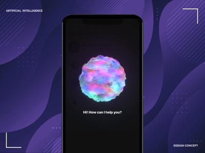 Artificial Intelligence concept artificial intelligence vietnam motion animation app design design ios ai