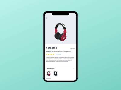 View Product view detail product vietnam animation flat app ios mobile design ui ux