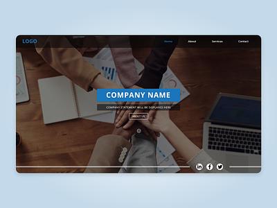 Software Company Landing page ux design web page software website startup company landing page ui