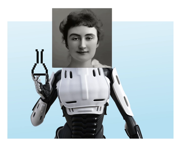 Robochronics AI photocollage retro design ai collage animation