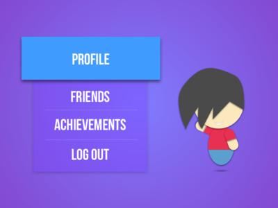 Daily UI #088 - Avatar menu gaming profile achievement video game avatar 088 ux ui dailyui