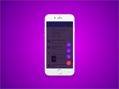 Daily UI #090 - Create New ux ui mobile app video photo note button new create 090 dailyui