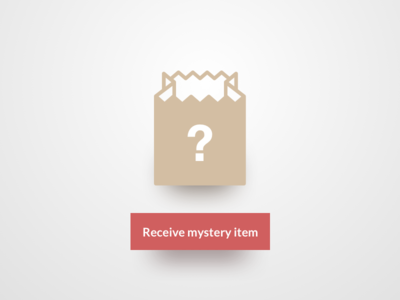 Daily UI #097 - Giveaway question mark mystery button paper bag giveaway 097 dailyui
