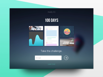 Daily UI #100 - Redesign Daily UI Landing Page challenge subscribe website last one ux ui splash landing page redesign 100 dailyui