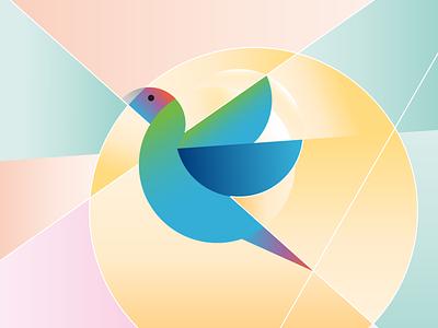 existential geometries technology health freedom geometry parrot bird pets animal illustration