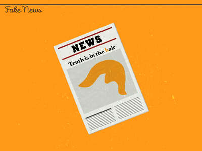 Fake News newspaper false news hair fact checking trump fake news