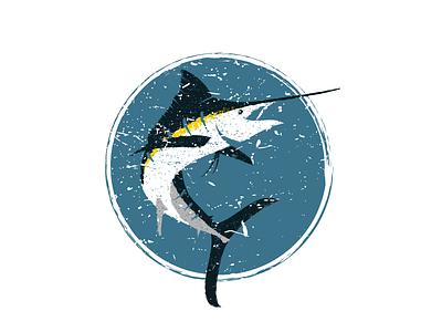 Marlin 02 distressed grunge vintage fishing fish marlin