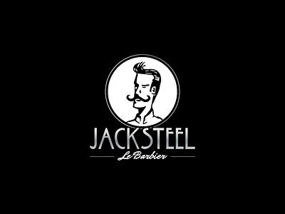 Jack Steel whisker moustache steel logo barbershop barber