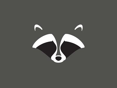 Raccoon flat  design raccoon animal negative space minimal animals illustration