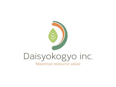 Daisyokogyo Inc green recycle waste leaf logo illustration