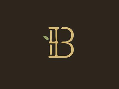boonique logo leaf logo lettermark monogram bike bamboo