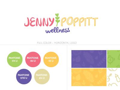 Jennypoppittwellness Logospec icon pattern brand branding guideline illustration logo spec
