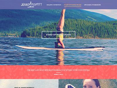 Jenny Poppitt Wellness Website sup nutrition pattern branding logo website