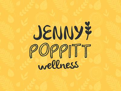 Jenny Poppitt Wellness Logo logo branding icon leaf brand illustration