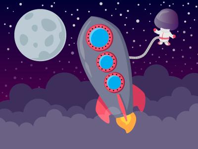 Spaceman illustration
