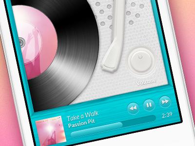 Disctopia - Theme Example (wip) ui record record player wood music wip