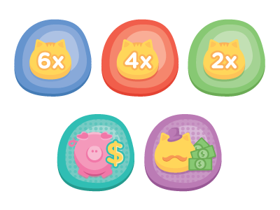 Coaster Kitty Achievement Icons wip achievement icons badge illustration cat