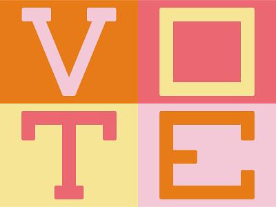 Vote Day 5 vote lettering illustration