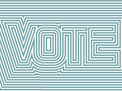 Vote Day 9 vote lettering illustration