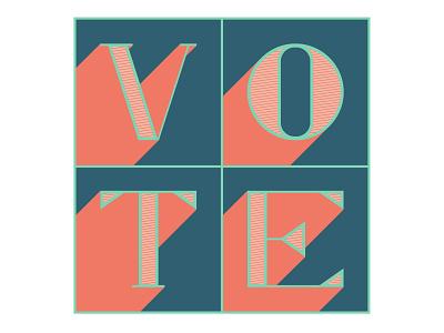 Vote Day 11 design vote lettering illustration