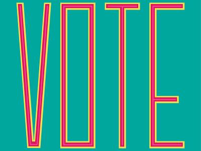 Vote Day 14 vote lettering illustration