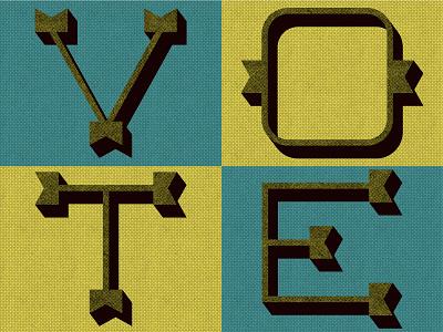 Vote Day 15 lettering illustration