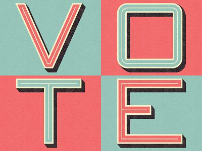 Vote - Day 17 design lettering illustration