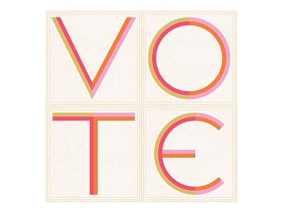 Vote - Day 18 design lettering illustration
