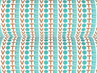 Vote - Day 20 3d lettering illustration