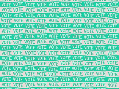 Vote - Day 21 lettering illustration