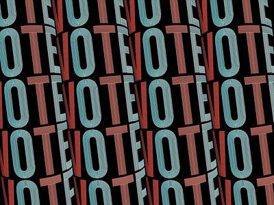 Vote - Day 23 design 3d lettering illustration