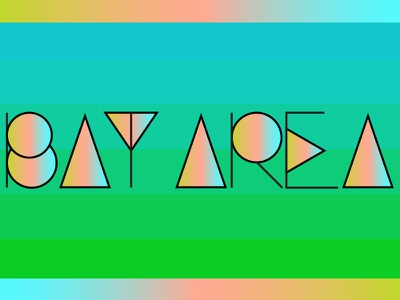 Bay Area lines gradient oakland san francisco lettering