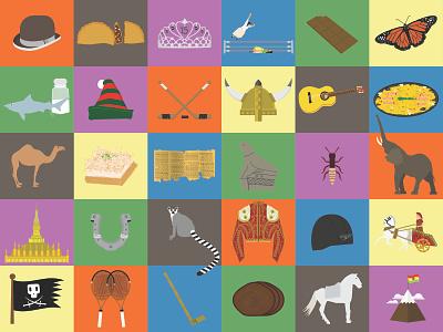Countries Spot Illos icons illustration
