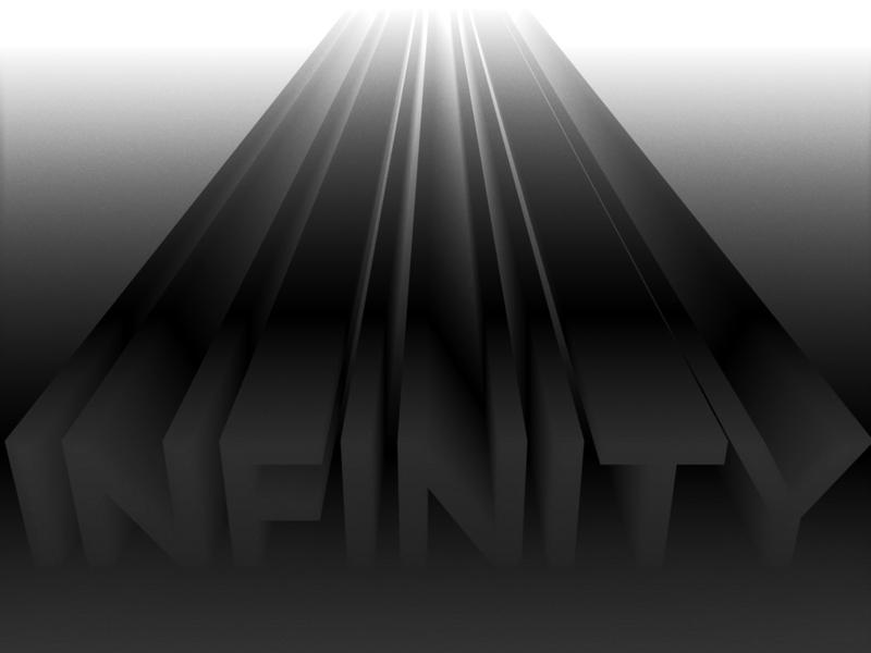 Infinity c4d 3d lettering illustration