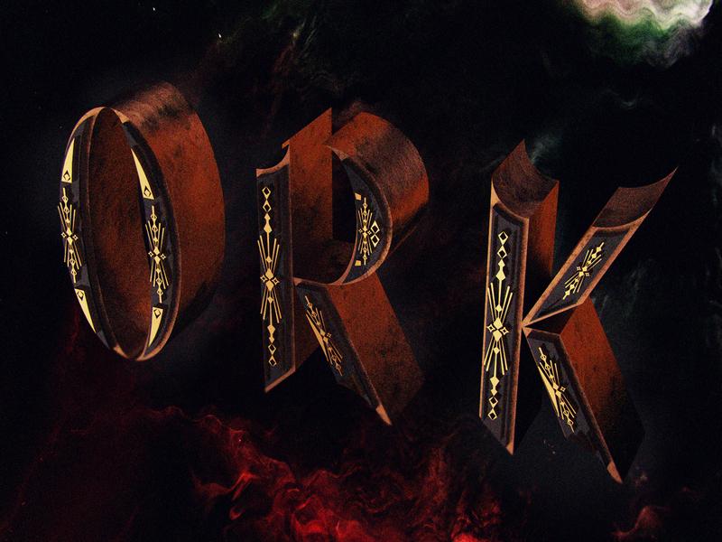 Ork c4d 3d lettering illustration