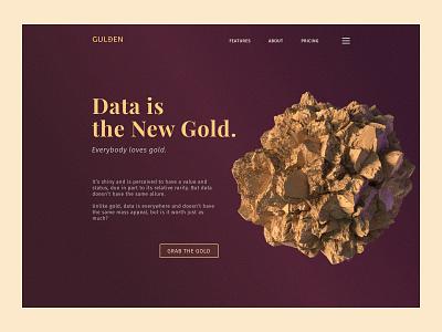 Gulden 3d blender web design ui
