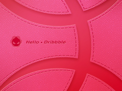 Hello dribble ~ leather like it illistration poster rose red texture vision debut dribbble hello