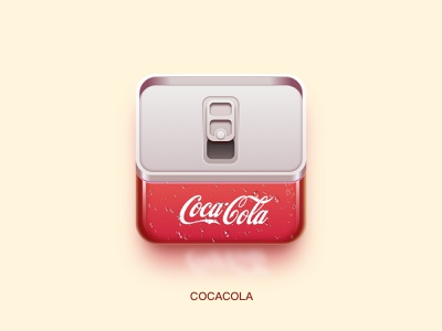 A cocacola icon practice red realistic icon cocacola
