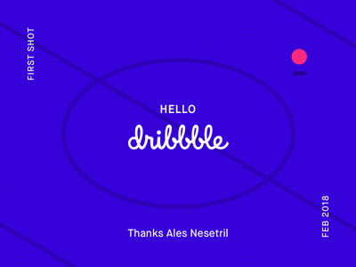 First Shot first shot dribbble hello invite sports illustration debut